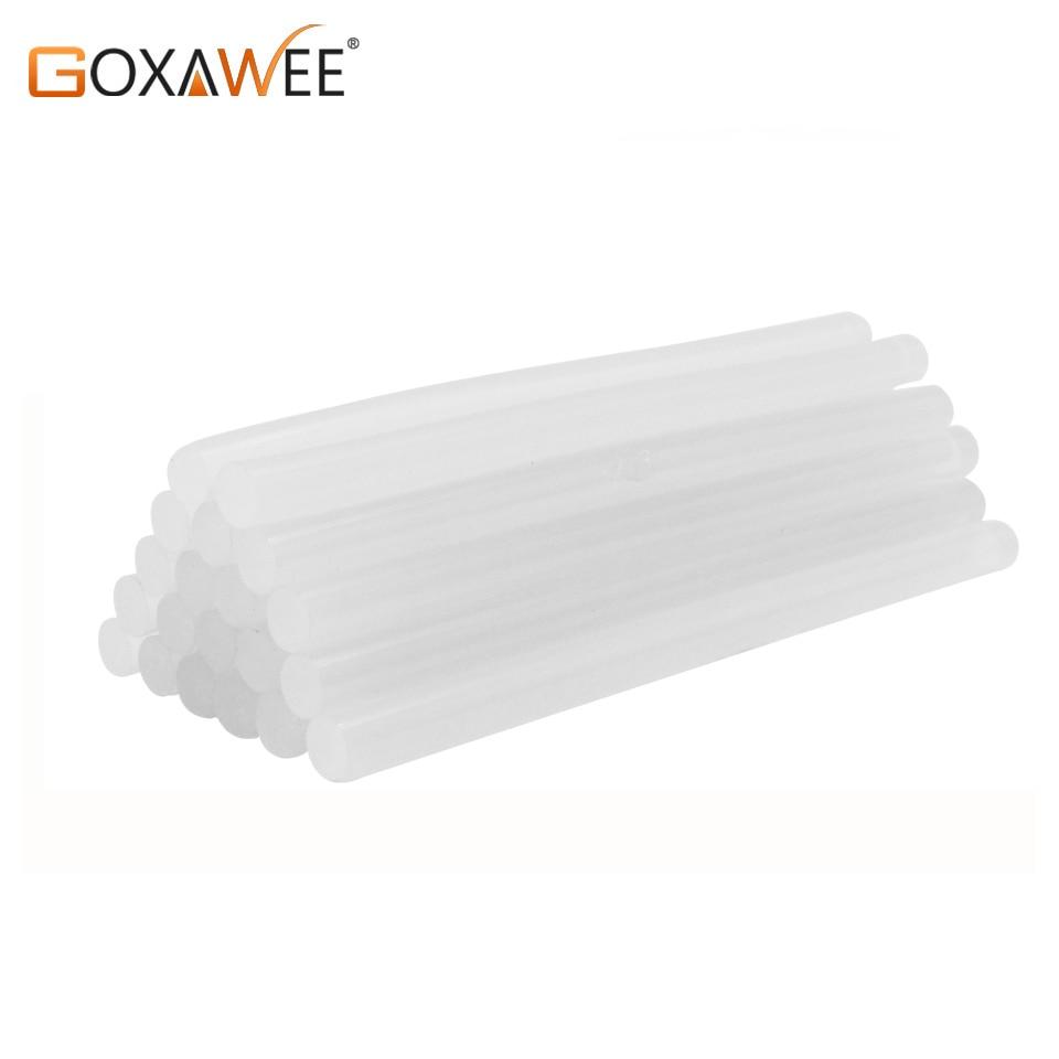 GOXAWEE 30pcs Hot Melt Glue Sticks For Electric Heat Glue Gun High Viscosity Glue DIY Craft Repair Tools Accessories 7mm/11mm
