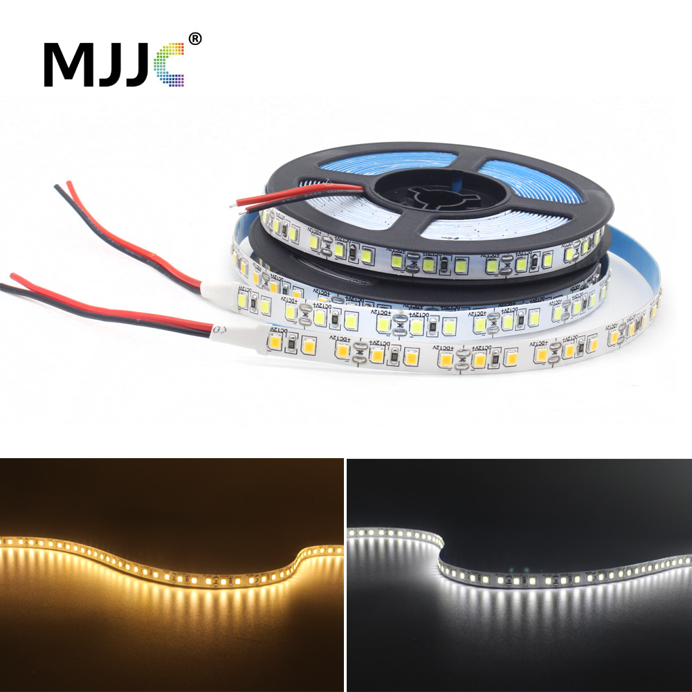 5M 600 <font><b>SMD</b></font> <font><b>2835</b></font> 12V LED Strip White <font><b>6000K</b></font> 3000K Warm White LED Stripe Flex Tape Light 120LEDs M 8mm PCB Non Waterproof Ledstrip image