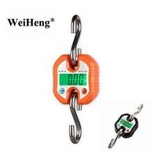 150kg Digital Crane Scale 150KG 50g Portable Stainless Steel Hook Hanging Scales Loop Fish Heavy Weighing Balance Green Backlit