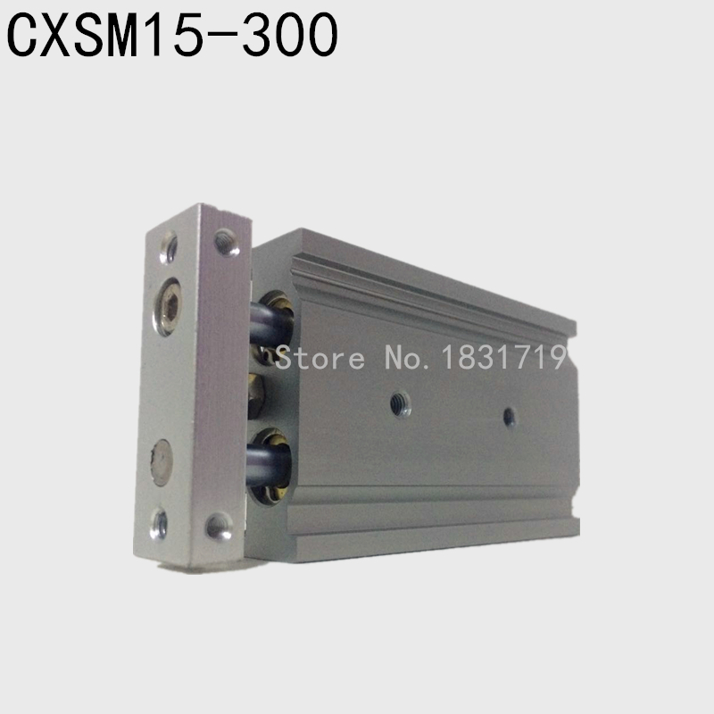 SMC type CXSM15-300 CXSM15*300 double cylinder / double shaft cylinder / double rod cylinder 15mm bore 300mm stroke стоимость