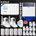 KERUI W18 WIFI GSM SMS Hause Einbrecher Sicherheit Alarm System Vorhang Motion Sensor Wireless Solar Sirene IP Innen Kamera
