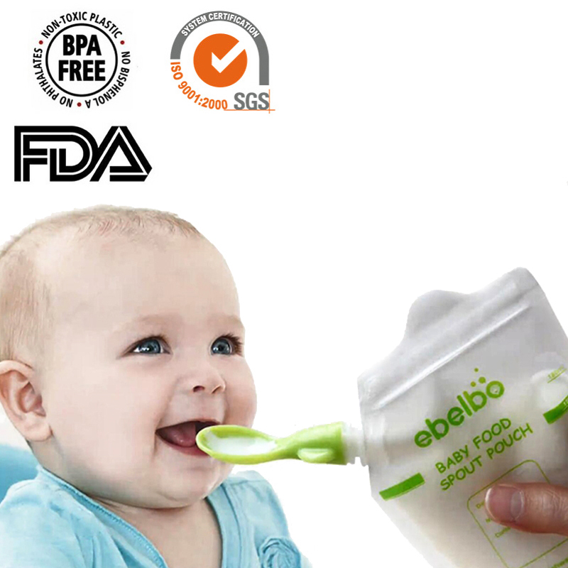 5/10/50 Pcs Reusable Baby Food Spout Pouch Container Baby Food Maker Fresh Fruit Distributor Infant Storage Squeeze Food Station