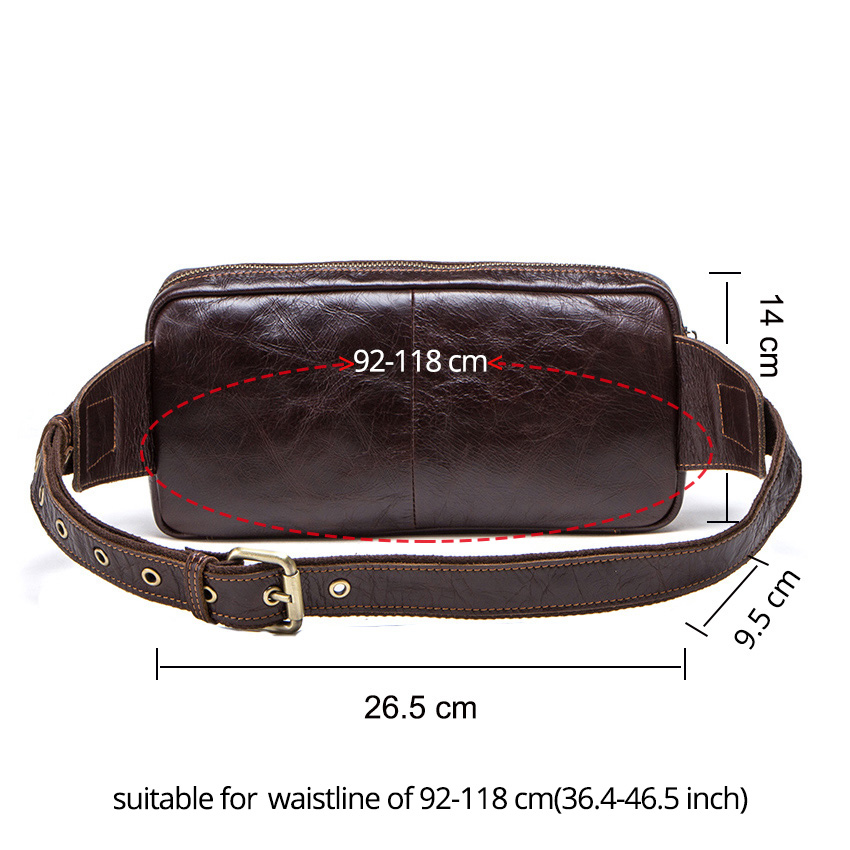 CONTACT'S genuine leather men's belt bag new small fanny pack top quality male waist bag for cell phone travel chest bags man 2