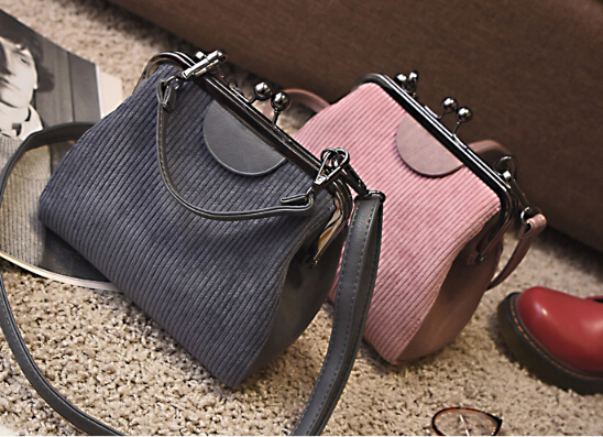 Clip bag women's handbag brief vintage all-match shell bag one shoulder small cross-body bag