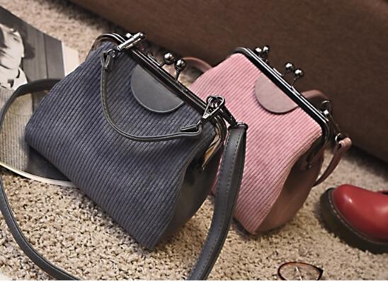 Clip bag women s handbag brief vintage all match shell bag one shoulder small cross body