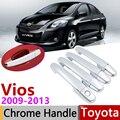 สำหรับ Toyota Vios XP90 Limo 2009 ~ 2013 Chrome ด้านนอกรถอุปกรณ์เสริมสติกเกอร์ Trim ชุด 4 ประตู 2010 2011 2012