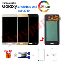 For SAMSUNG Galaxy J7 2016 J710 J710F LCD Display Screen module for Samsung SM J710F J710FZ J710K Display lcd Screen Replacement
