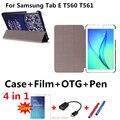 Новый Цветной рисунок T560 Кожаный Чехол капа пункт Для Samsung Galaxy Tab E 9.6 T560 T561 9.6 7-дюймовый Планшетный ПК корпус + ручка + Пленка + OTG