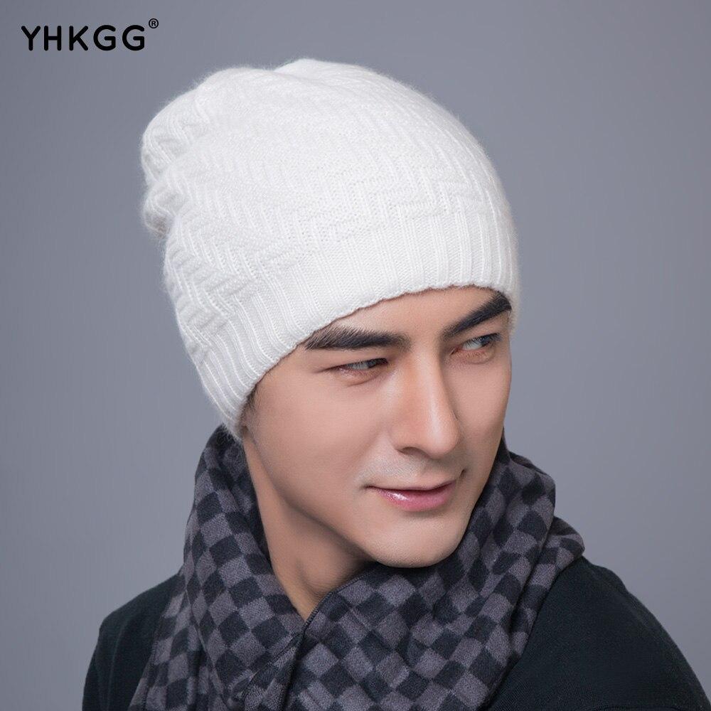 YHKGG 2017  Beanies Knit Double warm hat Winter Skullies Winter Hats Men's Bonnet Caps Brand skullies