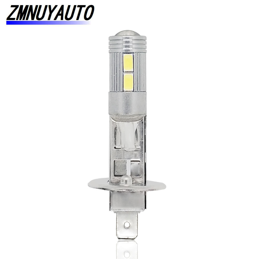 1PCS Super Bright Bulb LED H1 Fog Lamp Car Light 10SMD 5730 White Auto Daytime Running Lights Vehicle External Bulb 12V 6000K