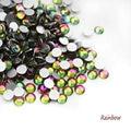 SS3-SS30 Rainbow 3D Nail Art Rhinestones del Hotfix del Flatback no Para Uñas Decoraciones 288-1440 unids