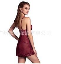 Fcare 2016 plus size XL, XXL, XXXL, XXXXL,5XL,6XL dress+g string wine red erotic sexy lingerie lace hot