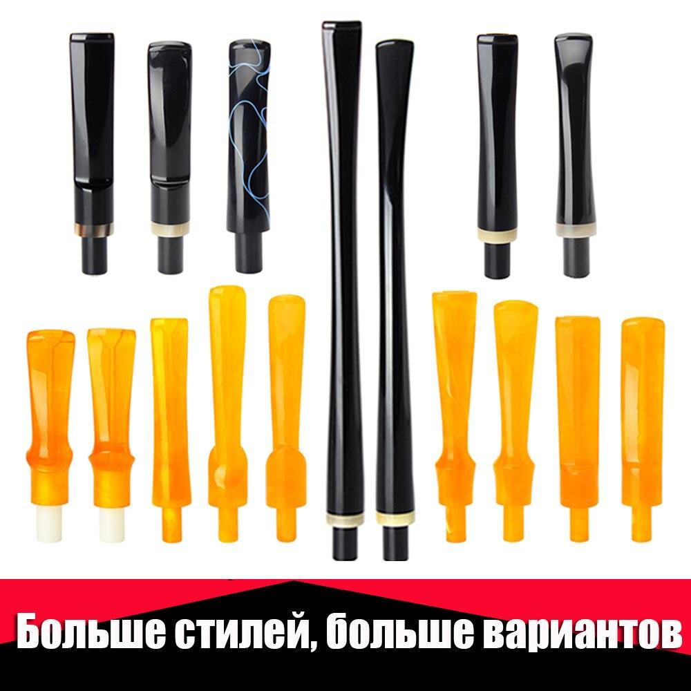 Ru-MUXIANG Gerade/Gebogen/lange/sattel Stem Tabak Rohr Mundstück Fit 9mm & 3mm filter für pfeife be0111-be0137