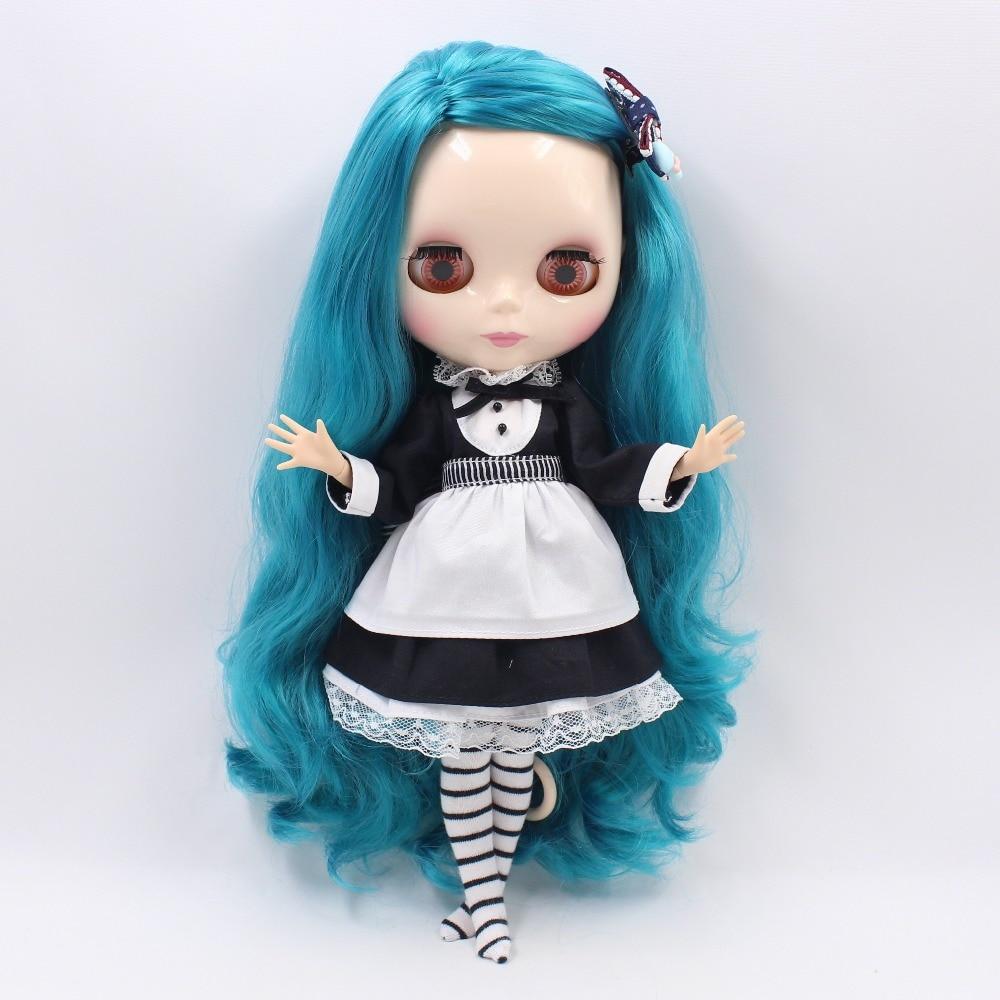 Neo Blythe Doll Waitress Dress with Apron & Socks 4