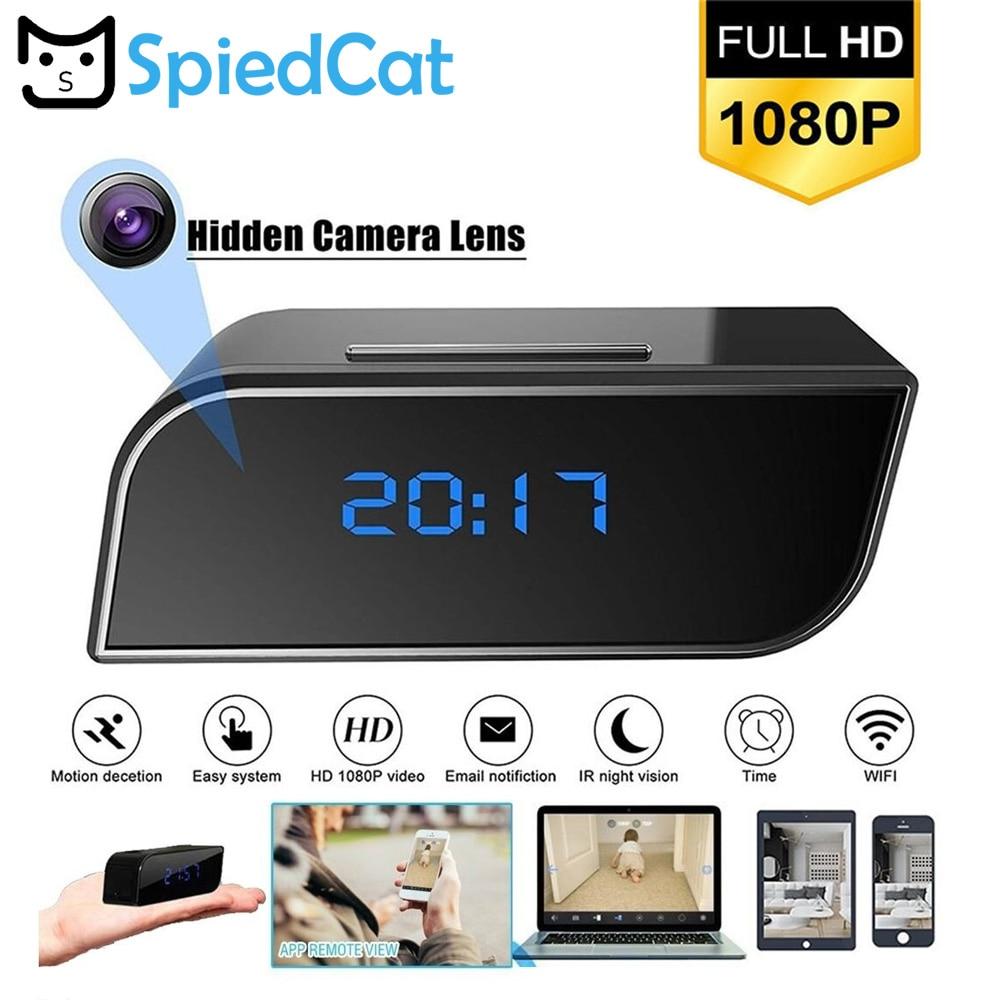 1080P Wireless HD WIFI IP Mini Video Camera Spy Alarm Clock Security System Cam