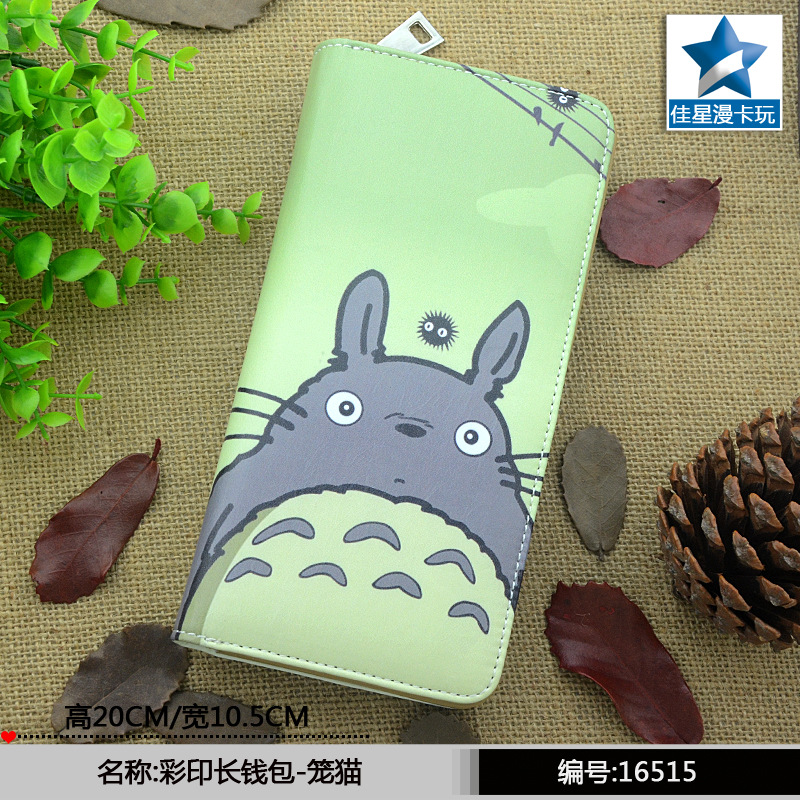 Japan anime My Neighbor Totoro wallet cartoon color printing women men wallet Long zipper purse 5 pcs lot cartoon anime wallet wholesale nintendo game pocket monster charizard pikachu wallet poke wallet pokemon go billetera