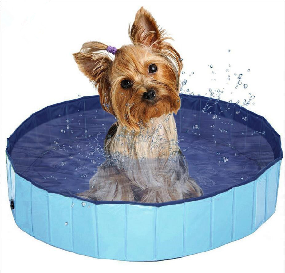 80*20cm Foldable Pet Dog Swimming House Bed Summer Pool Hard Plastic Foldable Collapsible Paddling Dog Pet Pool Foldable Pet Dog