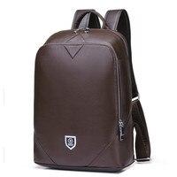 Из коровьей кожи 14 дюймов тетрадь рюкзак для мужчин для путешествий модные крутые школьные рюкзаки сумки мальчиков Anti Theft ноутбук