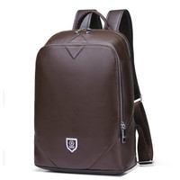 Cow Leather 14inch Notebook Backpack Men For Travelling Fashion Cool School Backpack Bags For Boys Anti Theft Laptop Backpack