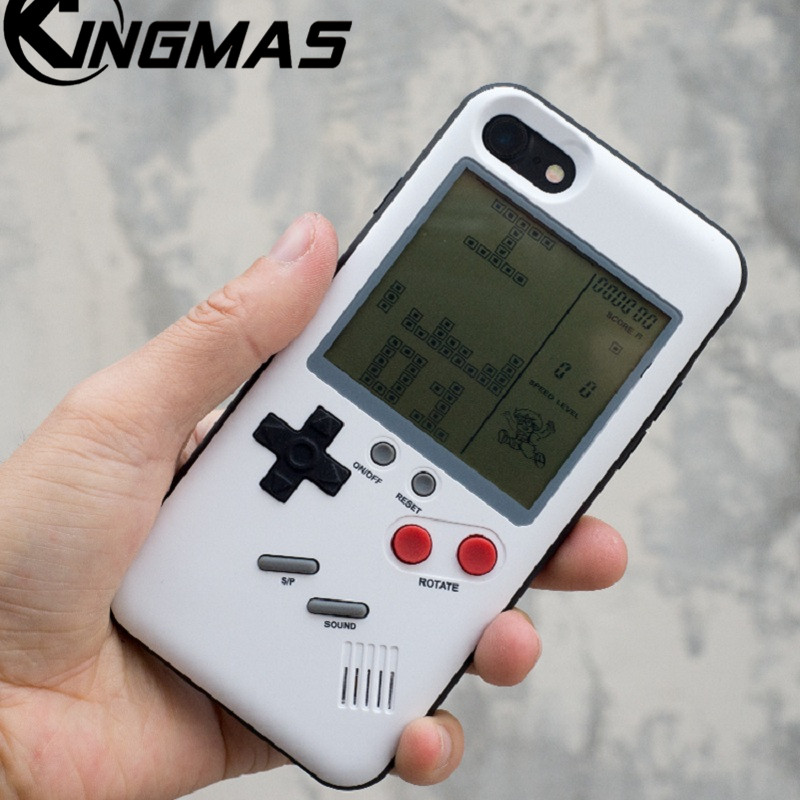 TPU Soft cover Für iPhone 6 6 s 6 Plus 6 s Plus 7 Plus 8 Plus iPhone X fall Retro Nintendo Tetris Gameboy telefon Für iPhone 7 fall