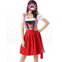 Sexy Beer Stein Babe Two Piece Women Bavarian Bar Maid Costume Oktoberfest Beer Girl Dress With
