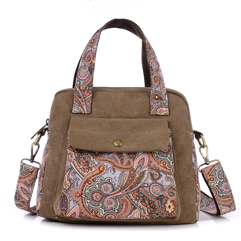 New fashion women messenger bag fashion handbag national print flower shoulder bags vintage canvas satchels school bag small люстра потолочная коллекция adagio 1996 3 бронза белый odeon light одеон лайт