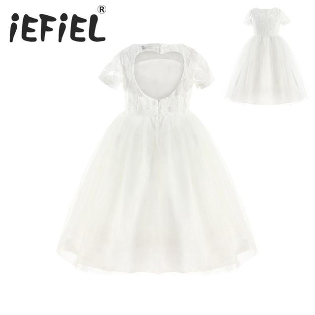 Witte kanten jurk meisjes
