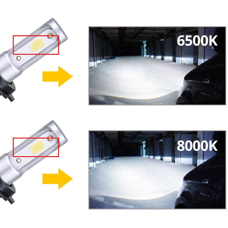 Aceersun H4 светодиодный H7 H1 H11 H8 H9 9005 HB3 HB4 9006 мини автомобильных фар 72 Вт 8000LM COB 3000 K 4300 K 6500 K 8000 K Привет короче спереди и длиннее сзади) 12В для ближнего и дальнего света 24 V