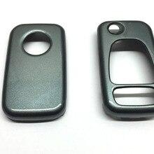 Triangle& Panic клавиатура с дистанционным откидным ключом защитный чехол Блестящий углерод серый цвет для Mercedes Benz