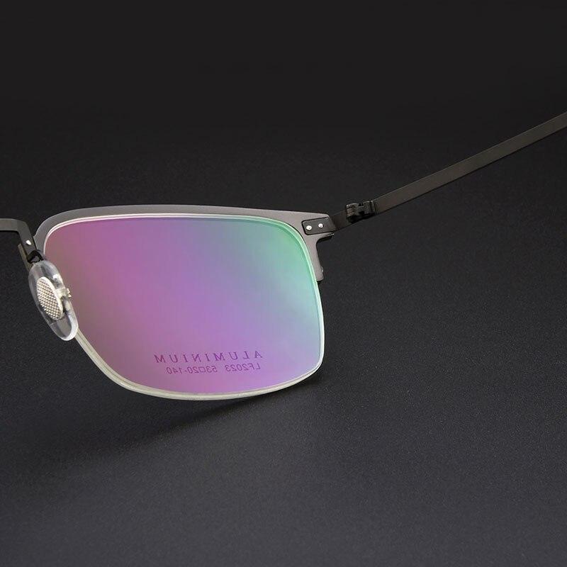 Gmei Presciption Óptica Liga de Titânio Meia Rim Armações de Óculos Para  Homens   Mulheres Óculos de Miopia Hipermetropia Óculos LF2023 em Armações  de ... 81840fb8a7