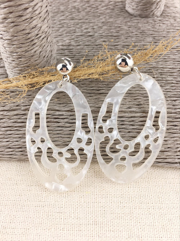 Dongmu jewellery new 2018 Baroque style acrylic hollow exaggerated lady earrings fashion products fine jewelry birthday gift