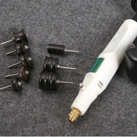 DIY 8 PCS grinding head + electric grinder, leather abrasive