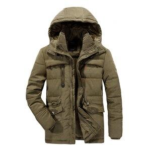 Image 4 - Mannen Winter Jas Plus Size 6XL, 7XL ,8XL Dikke Warme Parka Fleece Fur Hooded Militaire Jas Jas Zakken Windjack Mannen