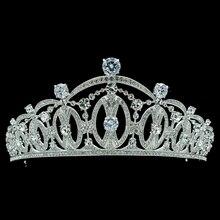 Estilo Vintage Mujeres de Royal Crown Tiara Nupcial Pelo de La Boda Joyería con Cristales Austriacos Realy SHA8746