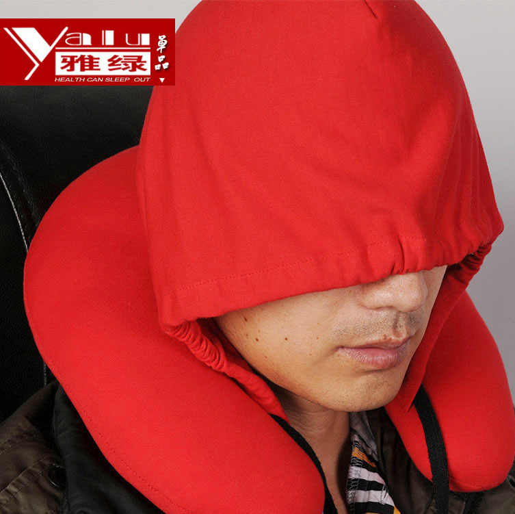 U Berbentuk Leher Bantal Serviks Bantal Case dengan Cap Baru Fashion Hood Di Kehidupan Pullover Bantal P28