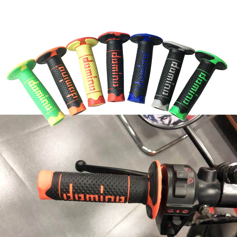 Universal 7//8 22mm Motorcycle Handlebar Rubber Motocross Hand Grips Covers Compatible for Dirt Bike Yamaha Honda Kawasaki Suzuki KTM Black
