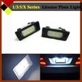 2Pcs LED White 24 SMD 7LM Car SUV Canbus License Number Plate Light Easy Insulation For E82 E88 E90 E92 E93 E39 E60 E60N E70