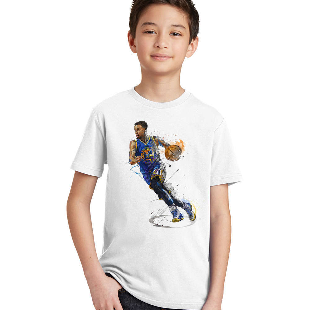 Boys T-Shirt Basketball-Star Clothing Tops Short-Sleeve Kids Tees Children Summer Stephen