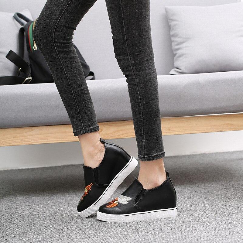 Mûr Véritable Chaussures Pour Mode Augmenté Interne Fsj01 Caoutchouc Coins En 35 Cuir Femmes D'âge Fsj Appliques on Taille Vache 34 Pompes Slip De qHwtnxZg