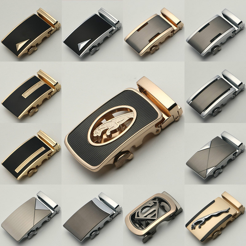 ZPXHYH Fashion Men's Business Alloy Automatic Buckle Unique Men Plaque   Belt   Buckles for 3.5cm Ratchet Men Apparel Accessories gh