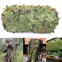 Garden Patio 6x4m Sunshade Cloth Canopy Shelter Military Army Camo Hunting Hide Camp Cover Net Woodland Camouflage Netting