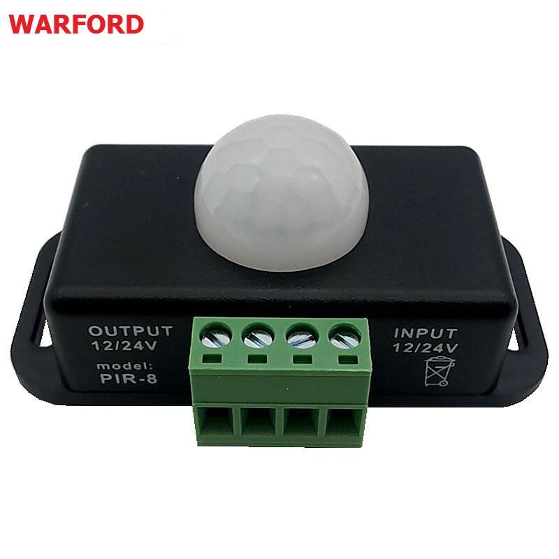 Pir Motion Sensor Detector Switch12v 24v Mini For Led