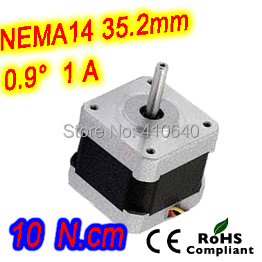 цены 10 pieces per lot FREE SHIPPING stepper motor 14HM11-1004S Nema14 with 0.9 deg  1A   10 N.cm with bipolar and 4 lead wires