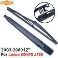 Limpiaparabrisas trasero y el brazo para lexus gx470 qeepei j120 2003-2009 12 ''5 puerta SUV Iso9000 De Caucho Natural de Alta Calidad RLX10-1A