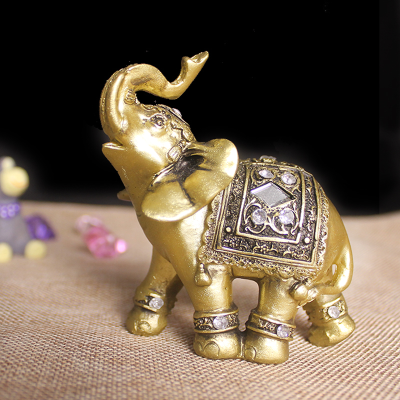 Q Glory Home Decoration Accessories Golden Elephant