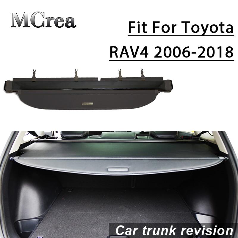 MCrea 1Set Car Styling Rear Trunk Parcel Shelf Security Blind Cover Cargo Shield For Toyota RAV4