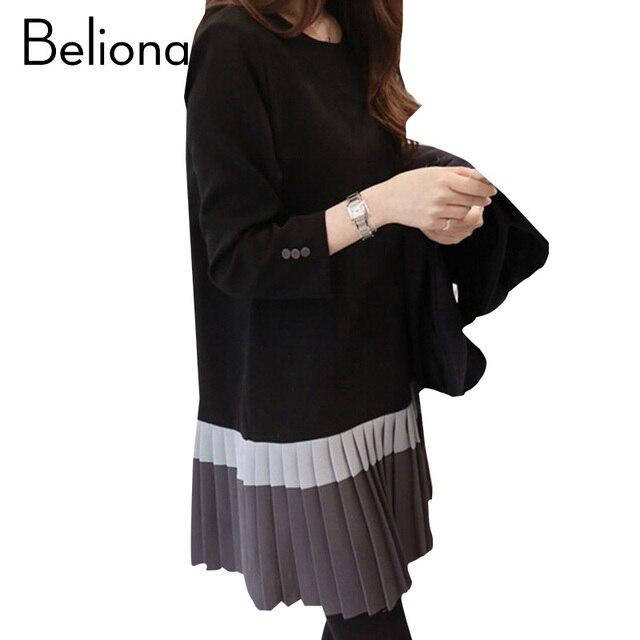 eb1db33f66a5b 2017 Fashion Maternity Dress for Pregnant Women Elegant Maternity Clothes  Autumn Winter Stitching Pregnancy Clothing