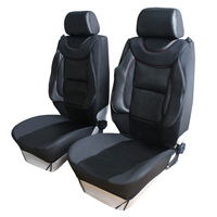 Comfortable PU Front Car Seat Cover With Foam Lumbar Cushion 2 Sided Car Styling Seat Covers