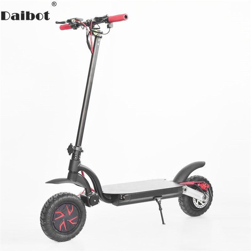 Scooter électrique Daibot adultes deux roues Scooters électriques 10 pouces simple/Double entraînement 1600W 48V vélo électrique pliant