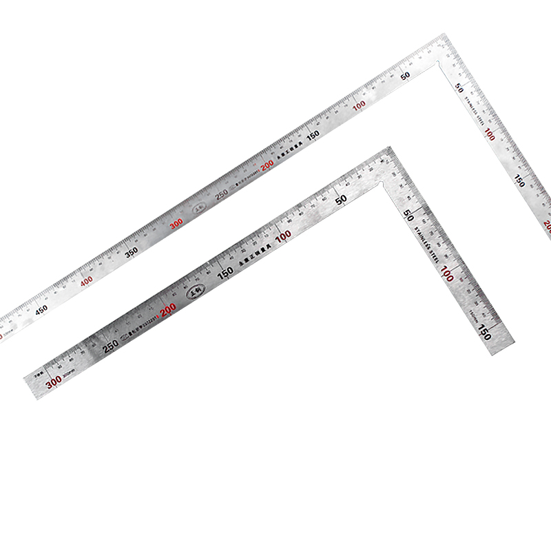 Stainless Steel 90 Degree Angle Metric Try Mitre Square Ruler Scale 15x30cm 25x50cm L-Square Angle Ruler конусы тренировочные mitre a3106oa1